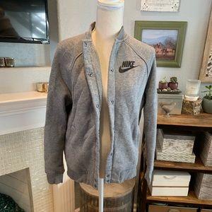 Nike Jackets & Coats - Nike S Grey Sweater Jacket - Like New